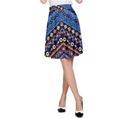 Cute Hand Drawn Ethnic Pattern A Line Skirt