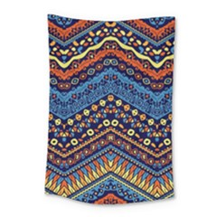 Cute Hand Drawn Ethnic Pattern Small Tapestry by Jojostore