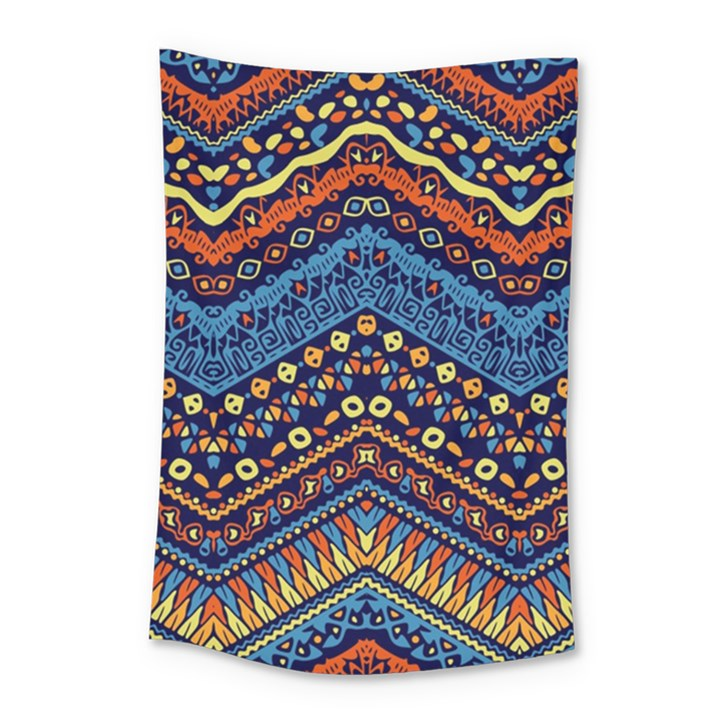 Cute Hand Drawn Ethnic Pattern Small Tapestry