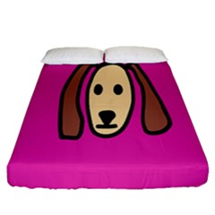 Face Dog Fitted Sheet (queen Size)