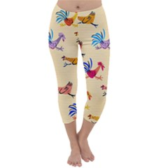 Chicken Capri Winter Leggings  by Jojostore