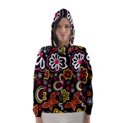 Flower Butterfly Hooded Wind Breaker (women)