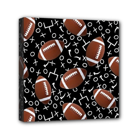 Football Player Mini Canvas 6  X 6  by Jojostore