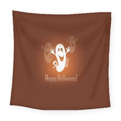 Funny Halloween Square Tapestry (large)