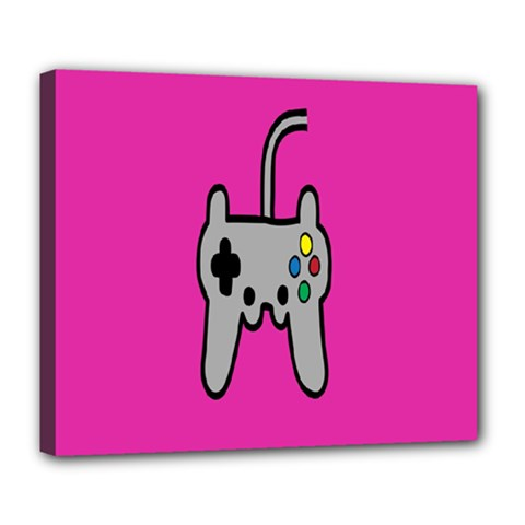 Game Pink Deluxe Canvas 24  X 20   by Jojostore