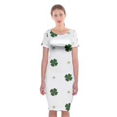 Green Leaf Classic Short Sleeve Midi Dress