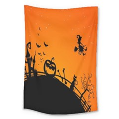 Halloween Day Large Tapestry by Jojostore