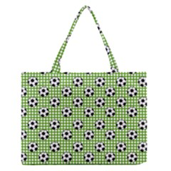 Green Ball Medium Zipper Tote Bag by Jojostore