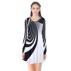 Hole Black White Flare Dress