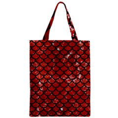 Scales1 Black Marble & Red Marble (r) Zipper Classic Tote Bag by trendistuff
