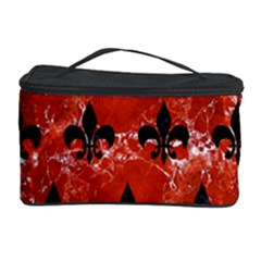 Royal1 Black Marble & Red Marble Cosmetic Storage Case by trendistuff