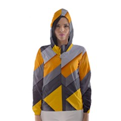 Marshmallow Yellow Hooded Wind Breaker (women)