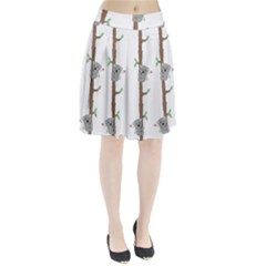 Koala Pattern Pleated Skirt