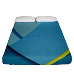 New Bok Blue Fitted Sheet (california King Size)