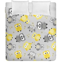 Owl Bird Yellow Animals Duvet Cover Double Side (california King Size)