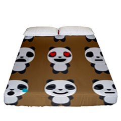 Panda Emoticon Fitted Sheet (king Size) by Jojostore