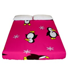Penguin Fitted Sheet (california King Size) by Jojostore