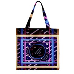 Abstract Sphere Room 3d Design Zipper Grocery Tote Bag by Amaryn4rt