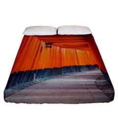 Architecture Art Bright Color Fitted Sheet (california King Size)