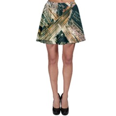 Architecture Buildings City Skater Skirt