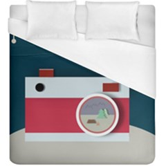 Camera Vector Illustration Duvet Cover (king Size) by Amaryn4rt