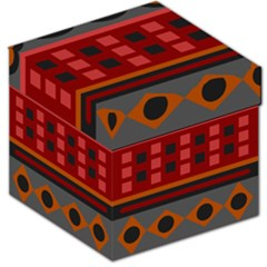 Red Aztec Storage Stool 12   by Jojostore