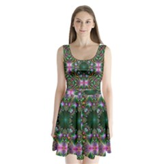 Digital Kaleidoscope Split Back Mini Dress  by Amaryn4rt