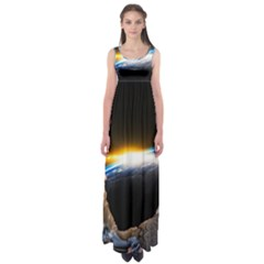 Door Breakthrough Door Sunburst Empire Waist Maxi Dress by Amaryn4rt