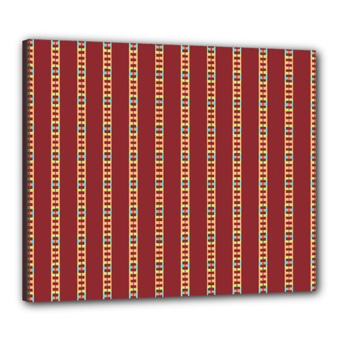 Pattern Background Red Stripes Canvas 24  X 20