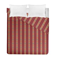 Pattern Background Red Stripes Duvet Cover Double Side (full/ Double Size)