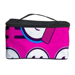 Run Face Pink Cosmetic Storage Case