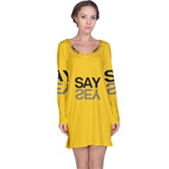 Say Yes Long Sleeve Nightdress