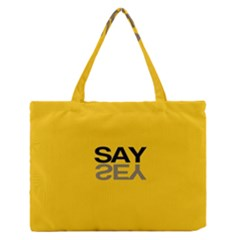 Say Yes Medium Zipper Tote Bag by Jojostore