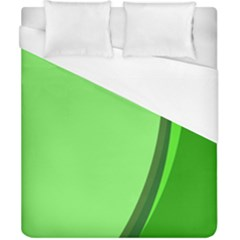 Simple Green Duvet Cover (california King Size)