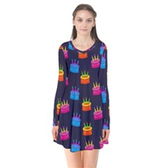 Seamless Tile Repeat Pattern Flare Dress