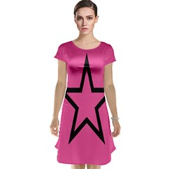 Star Cap Sleeve Nightdress by Jojostore