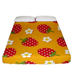 Strawberry Fitted Sheet (queen Size) by Jojostore