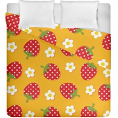Strawberry Duvet Cover Double Side (king Size)