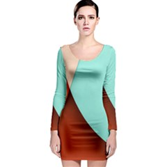 Thumb Lollipop Wallpaper Long Sleeve Bodycon Dress by Jojostore