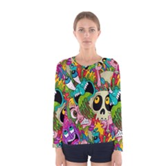 Sick Pattern Women s Long Sleeve Tee by Jojostore