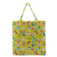 Robot Cartoons Grocery Tote Bag