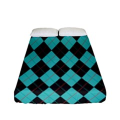 Tumblr Static Argyle Pattern Blue Black Fitted Sheet (full/ Double Size) by Jojostore