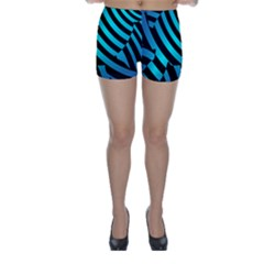 Turtle Swimming Black Blue Sea Skinny Shorts