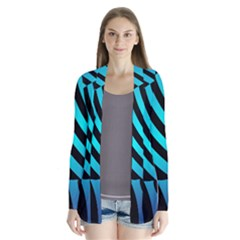 Turtle Swimming Black Blue Sea Cardigans by Jojostore