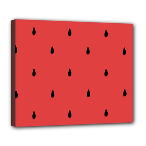 Watermelon Seeds Red Deluxe Canvas 24  X 20   by Jojostore