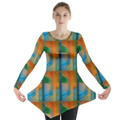 Wall Of Colour Duplication Long Sleeve Tunic
