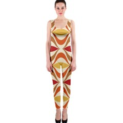 Wave Orange Red Yellow Rainbow Onepiece Catsuit