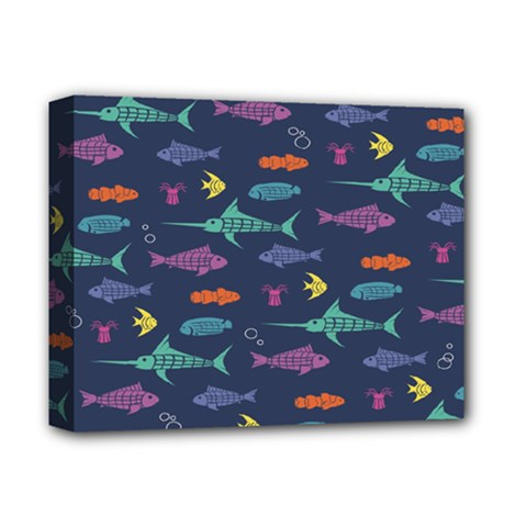 Twiddy Tropical Fish Pattern Deluxe Canvas 14  X 11  by Jojostore