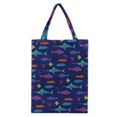 Twiddy Tropical Fish Pattern Classic Tote Bag