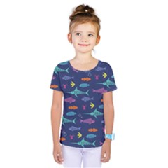 Twiddy Tropical Fish Pattern Kids  One Piece Tee